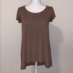 Brown Soft Flowy Top